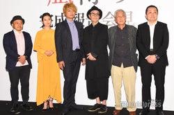 白石和彌監督、恒松祐里、香取慎吾、、リリー・フランキー、吉澤健、赤城聡プロデューサー(C)モデルプレス