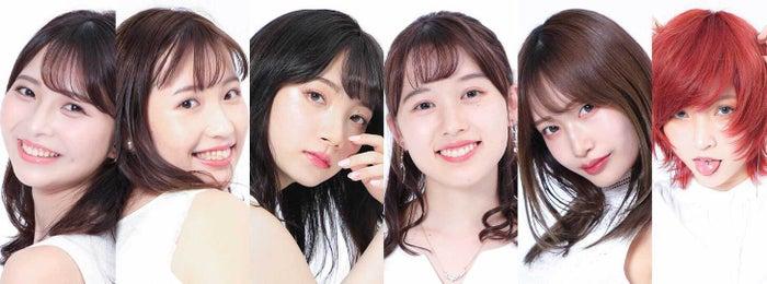 『Mr&Miss Campus KANDAI 2020』ファイナリスト(左から)岸本沙季、吉田沙弥香、加藤千絢、野村梨々華、平佐知子、星山知里(提供写真)