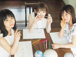 欅坂46尾関梨香・小池美波・長濱ねる、絵を描く3ショットが微笑ましい