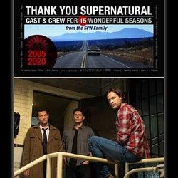 終了間近の『スーパーナチュラル』へ。ファンが粋なお別れを用意