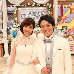 モデルプレス - おばたのお兄さん&山崎夕貴アナが披露宴 豪華芸人・フジアナウンサーも集結