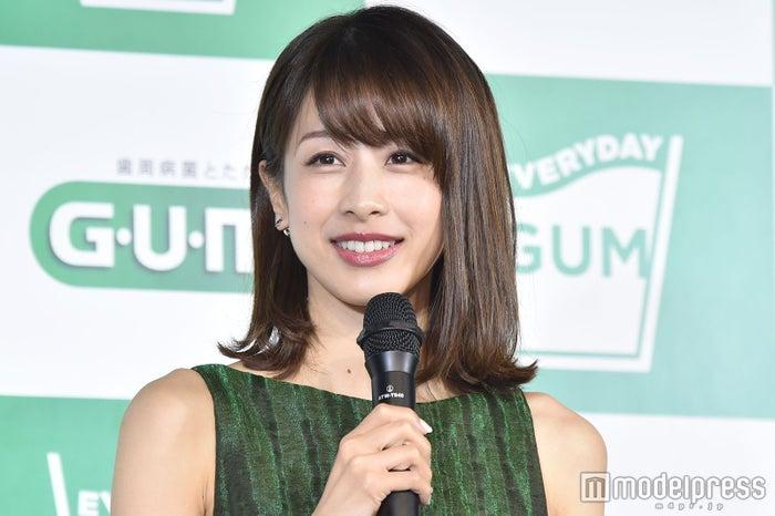 明石家さんまとの密会報道にコメントした加藤綾子 (C)モデルプレス