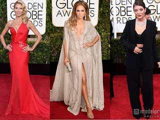 ジェニファー・ロペス、美バストあらわなSEXYドレス披露 豪華セレブが「ゴールデン・グローブ賞」レッドカーペットに集結