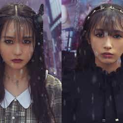 モデルプレス - 乃木坂46賀喜遥香&欅坂46渡辺梨加、新生「LARME」で美の競演