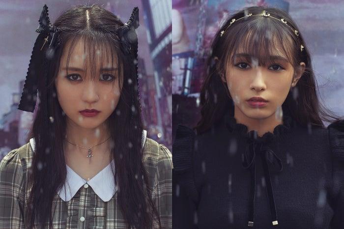 賀喜遥香(乃木坂46)、渡辺梨加(欅坂46)/「LARME」046 Autumnより(提供写真)