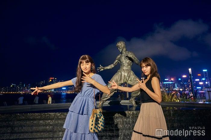 香港のマストフォトスポット、ブルース・リーの銅像は外せません!(C)モデルプレス