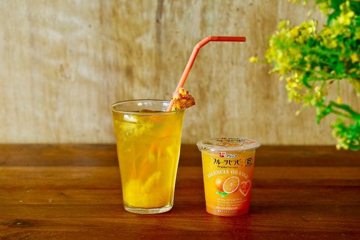バレンシアオレンジ+炭酸オレンジ炭酸飲料 ~セラピーフロート・ドリンク~