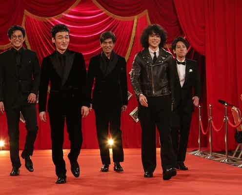 菅田将暉、ライダースジャケットでレッドカーペット登場「唯一無二」「さすが」と注目集まる<第44回日本アカデミー賞>