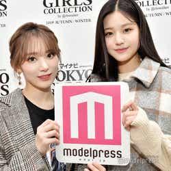 宮脇咲良&チャン・ウォニョン(C)モデルプレス