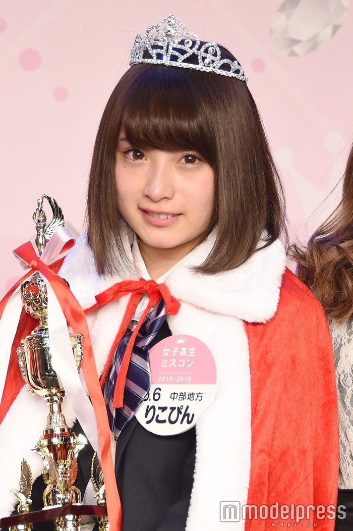 """日本一かわいい女子高生グランプリの""""りこぴん""""こと永井理子さん(C)モデルプレス"""