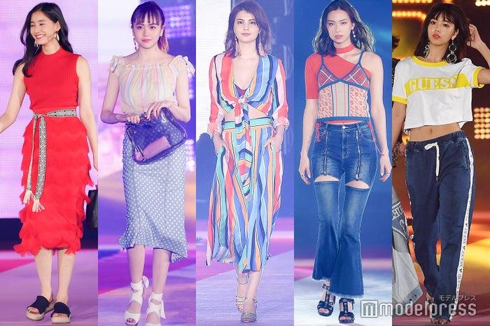 (左から)新木優子、松井愛莉、マギー、ローレン・サイ、藤田ニコル (C)モデルプレス