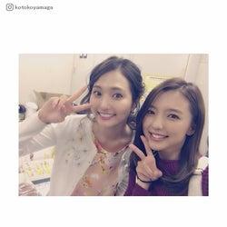 「逃げ恥」真野恵里菜&山賀琴子の美女2ショットに反響「笑顔が可愛い」「次はみくりと百合ちゃんも」