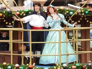 ディズニーシー、2大プリンセスが贈る幸せなクリスマス