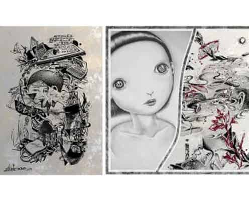 『TOMO SAKURAI and shinPo mai 二人展 – 塗炭の芽 totan no me-』 LAUGH&PEACE ART GALLERYにて開催