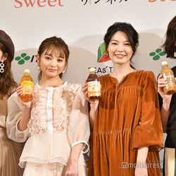 モデルプレス - 吉木千沙都・小室安未・高垣麗子・森貴美子、モデル競演で秋冬コーデを披露