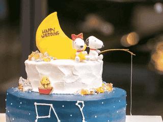 \みんな大好き♡/ スヌーピーのウェディングケーキをご紹介♡♡