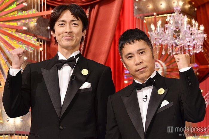 解散説に言及したナインティナイン(左から)矢部浩之、岡村隆史【モデルプレス】