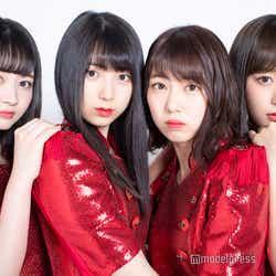 モデルプレスのインタビューに応じた(左から)江籠裕奈、菅原茉椰、熊崎晴香、鎌田菜月 (C)モデルプレス