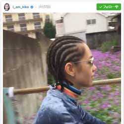 """""""コーンロウヘア""""を披露した水原希子/水原希子Instagramより"""