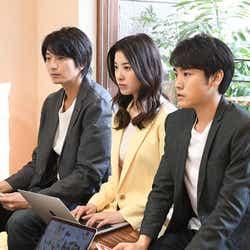向井理、吉高由里子、泉澤祐希/「わたし、定時で帰ります。」第6話より(C)TBS
