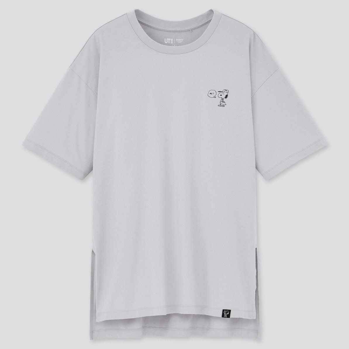 ユニクロ UNIQLO UT Tシャツ ユーティー スヌーピー ピーナッツ SNOOPY PEANUTS ヴィンテージ VINTAGE コラボ 新作 トップス おすすめ レディース 女性 グレー ワンポイント