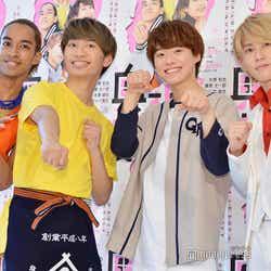 (左から)草間リチャード敬太、藤原丈一郎、大橋和也、末澤誠也(C)モデルプレス