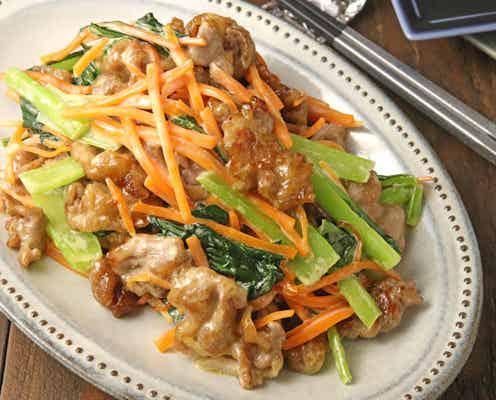 管理栄養士おすすめ!フライパンひとつ10分で!緑黄色野菜と豚肉のマヨ炒め