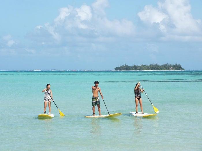 ボードに乗って海へ漕ぎ出せば、トロピカルフィッシュや、ウミガメにも出会えるかも?(C)Seawind Marine Sports Club