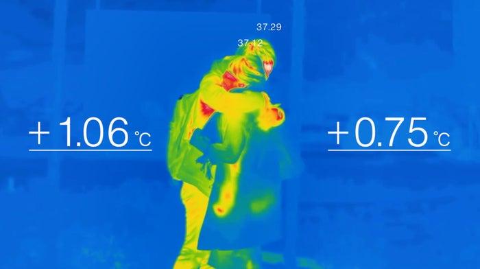 直接会ったときに最も体温が上昇した