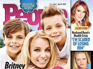 ブリトニー・スピアーズ、子供達と一緒に米誌『ピープル』表紙に登場