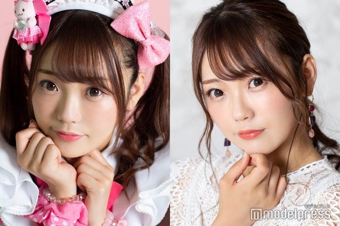 モデルプレスのインタビューに応じたhitomi/(左)メイド姿、(右)私服姿(C)モデルプレス
