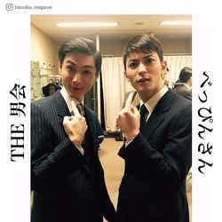 左から:高良健吾、永瀬匡に「俺に似てるって言われるでしょ?」 ファン待望のイケメン2ショットに反響/永瀬匡Instagramより