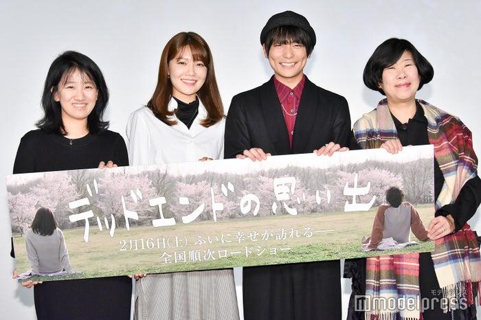 (左から)チェ・ヒョンヨン監督、チェ・スヨン、田中俊介、吉本ばなな(C)モデルプレス