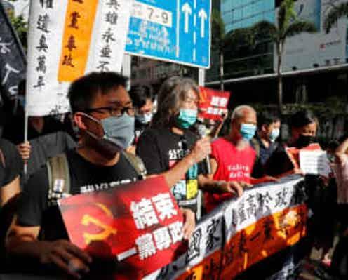 国家安全維持法施行の香港、返還23周年迎える 当局は治安対策