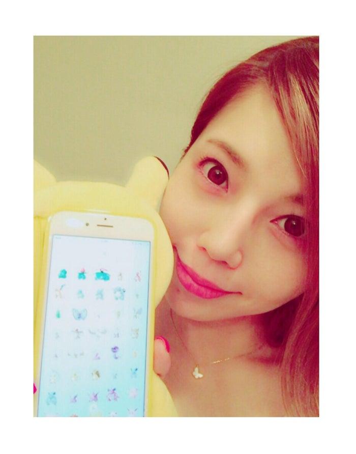 「ポケモンGO」国内142種を制覇した住谷杏奈/オフィシャルブログ(LINE)より)