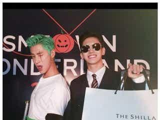 東方神起チャンミンの仮装が地味ハロウィンだと話題 ユンホとパーティーをエンジョイ
