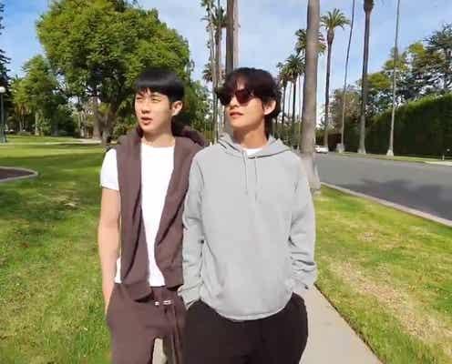BTS・V「パラサイト」チェ・ウシクとの友情が話題 アカデミー賞受賞をお茶目に祝福