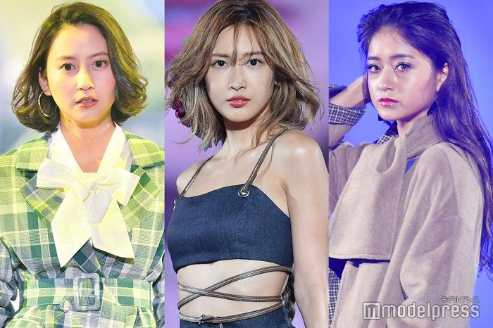 (左から)河北麻友子、紗栄子、池田美優(C)モデルプレス