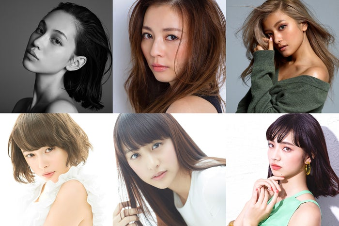 「TGC2016A/W」に豪華モデルが集結(上段左から)水原希子、香里奈、ローラ(下段左から)玉城ティナ、山本美月、小松菜奈