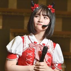 姉からの手紙に涙目になる矢作萌夏「AKB48矢作萌夏ソロコンサート~みんなまとめてすちにさせちゃうぞ~」 (C)モデルプレス