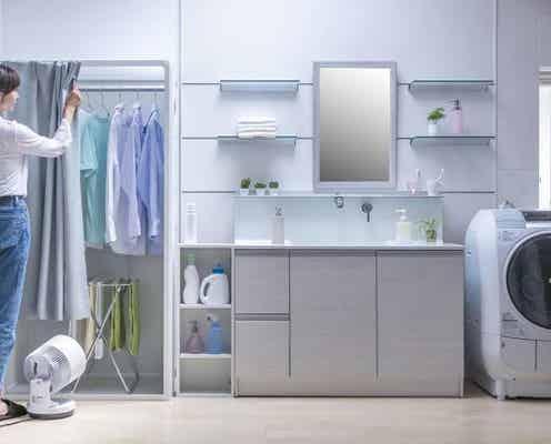 洗濯物がいつもの半分の時間で乾く!折り畳み式速乾ブースで家事を時短。省スペース&節電効果も◎