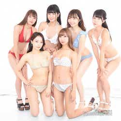 (前列左から)青科まき、肥川彩愛(後列左から)立花咲羽 、小島瑠奈、夏井さら、西野陽菜(C)モデルプレス