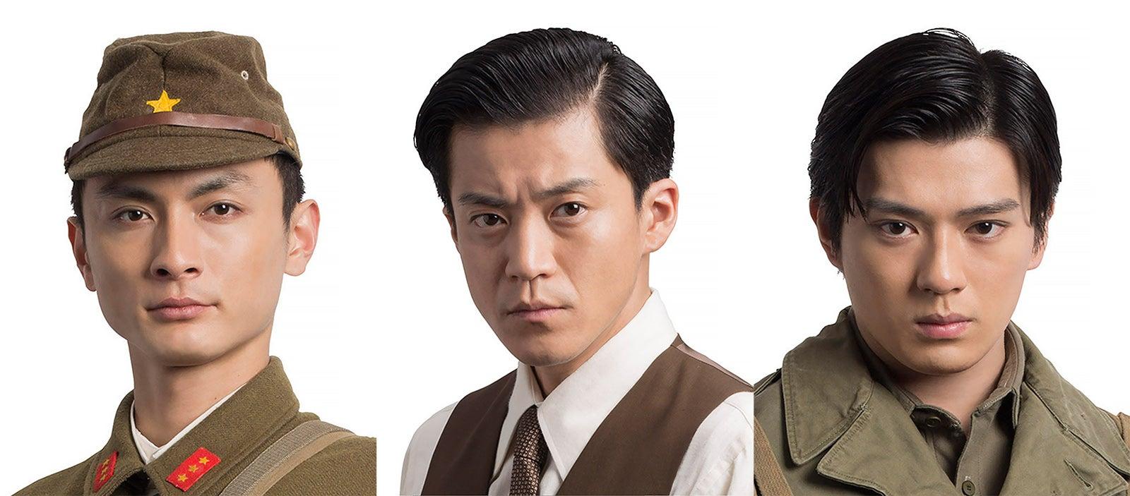 左から)高良健吾、小栗旬、新田真剣佑 (C