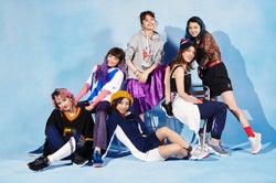 E-girls、キュートなスポーティ姿披露「Reebok」キービジュアルに抜擢