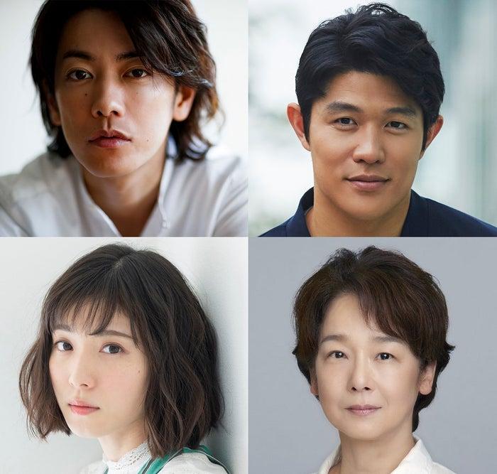 (上段左から時計回り)佐藤健、鈴木亮平、田中裕子、松岡茉優(C)2019「ひとよ」製作委員会