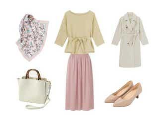 絶対モテたい日に♡【GU&ユニクロ】くすみピンクが可愛い愛されスカートコーデ