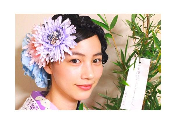 七夕の願いを込める/能年玲奈オフィシャルブログ(yaplog)より【モデルプレス】