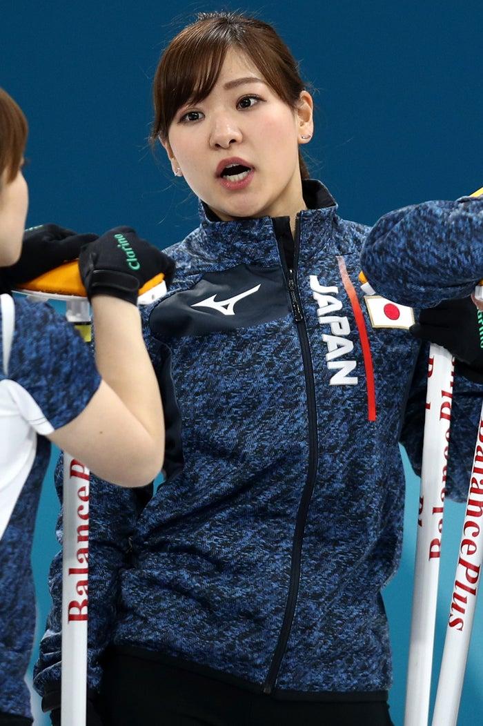 カーリング女子日本代表・吉田知那美選手(Photo by Getty Images)