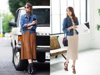 ロングスカート&デニムジャケットの組み合わせが最高にイイ!