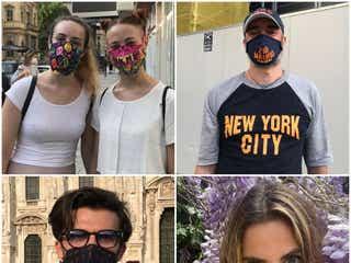 感染予防措置を緩和したミラノ、慣れないマスクにおしゃれ心